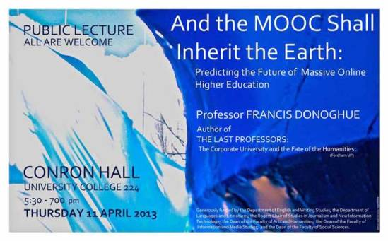 """And the MOOC Shall Inherit the Earth."""
